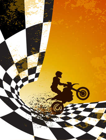 motocross background design with grunge element and place for text Ilustração