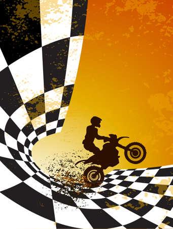 Motocross Hintergrund Design mit Grunge-Element und Platz für Text Standard-Bild - 33718899