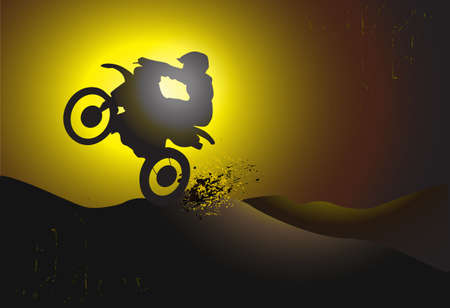 dirtbike: motocross background design with grunge element and place for text Illustration