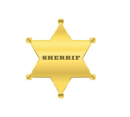 sherrif golden star vector design Vector
