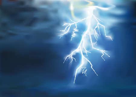 thunder lighting background vector