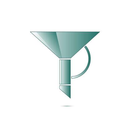 lube: funnel icon vector modern symbol