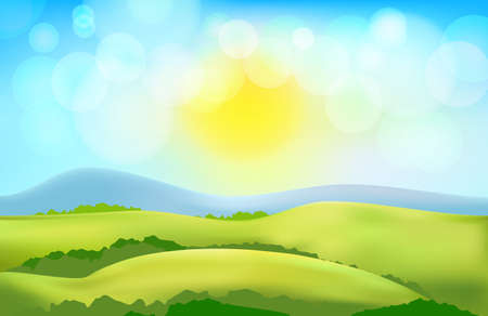 countryside: vector countryside landscape background