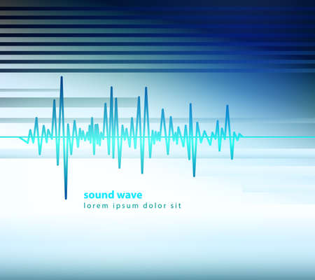 equaliser sound wave vector illustration Banco de Imagens - 33722567