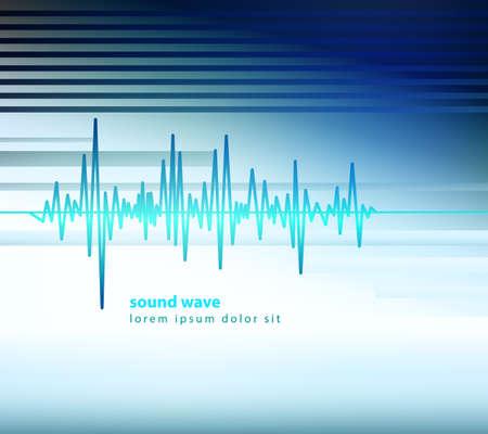 Equalizer Schallwellen Vektor-Illustration Standard-Bild - 33722567