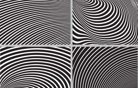 trickery: striped design background set Illustration