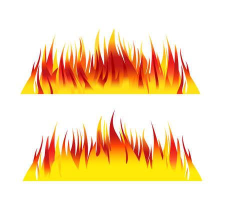 lángok: Tűz háttér láng vektoros illusztráció