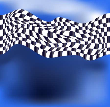 bandera carrera: bandera a cuadros fondo raza vector Vectores