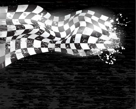 finishing line: racing background checkered flag wawing