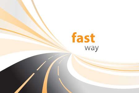 time lapse: highway background vector illustration Illustration
