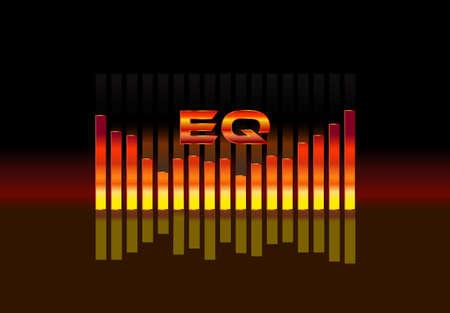 soundtrack: equalizer sound wave illustration vector