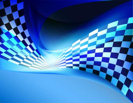 wyścigi tle flagi z szachownicą wawing Ilustracje wektorowe