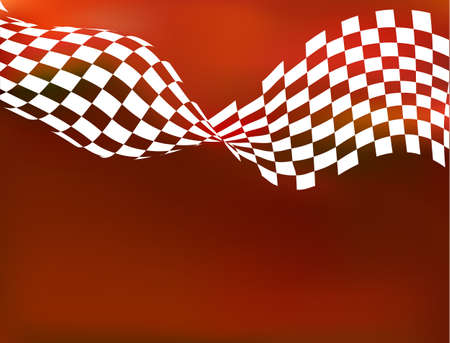 racing background checkered flag wawing Banco de Imagens - 35861379