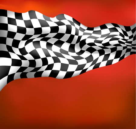 Course de fond drapeau à damier wawing Banque d'images - 35834491