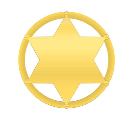 vector golden sheriff star isolated