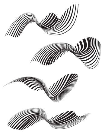 trickery: optical effect mobius wave stripe design