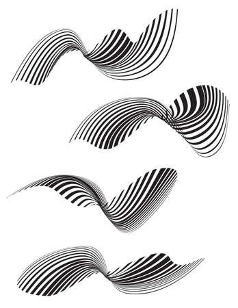 trickery: optical effect mobius wave stripe design