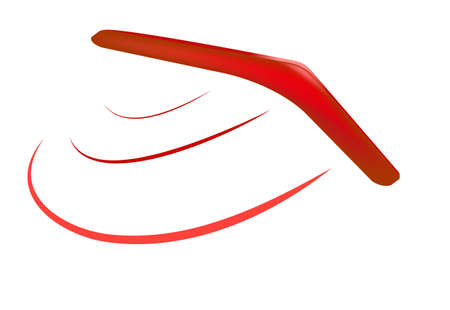 wooden boomerang: vector wooden australian boomerang icons