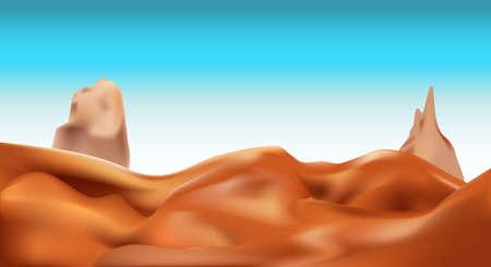desert landscape: vector desert landscape background