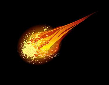 comet: comet vector background Illustration