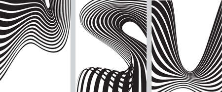 tunnel vision: optical effect mobius wave stripe design