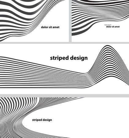 striped design background set  イラスト・ベクター素材