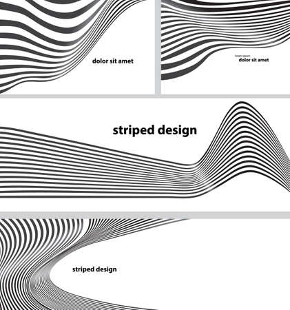 mobius loop: striped design background set Illustration