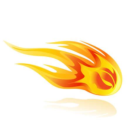 fireball orcomet vector illustration