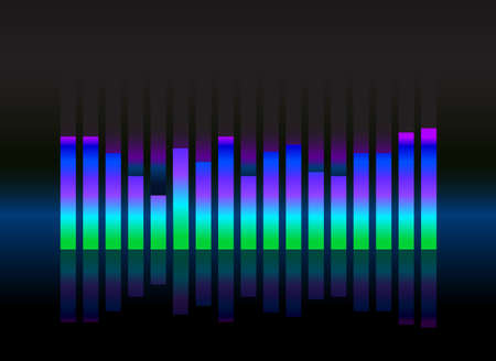 soundwave: equalizer sound wave illustration vector