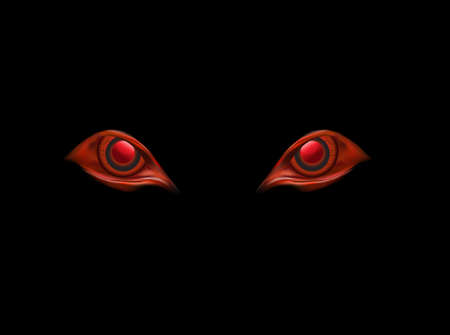 evil eyes on black vector background 向量圖像