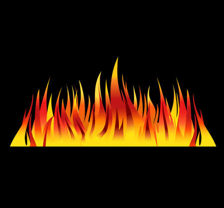 flames background: fire background flames vector illustration