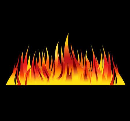 llamas de fuego: Fondo de fuego ilustraci�n vectorial llamas