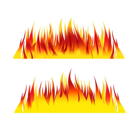 flames vector: fire background flames vector illustration
