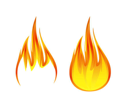 flame symbol or icon vector illustration 矢量图像