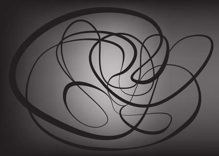 mesh: abstract chaotic lines on black mesh