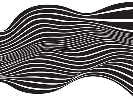 mobius strip: black and white mobious wave stripe optical design Illustration
