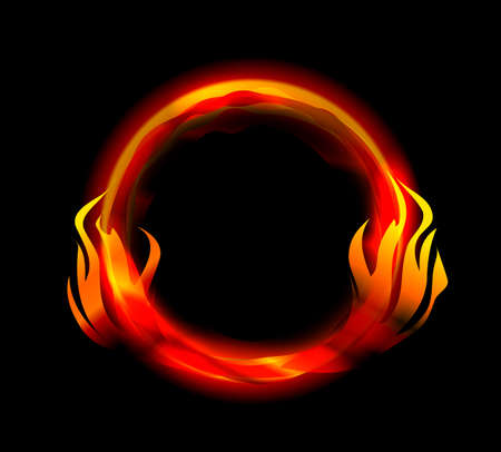 ring of fire: fire ring vector Illustration