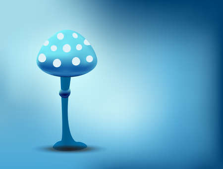 food poison: blue magic mushroom background vector Illustration