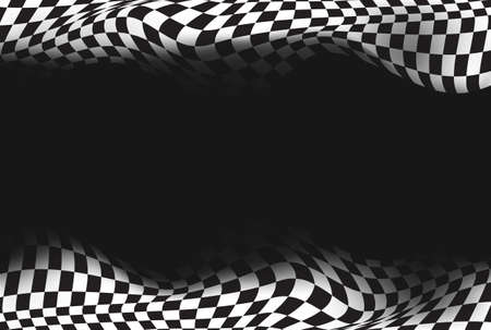 races: race, checkered flag background vector
