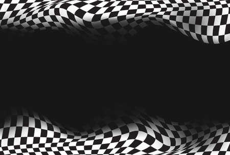 cuadros blanco y negro: raza, bandera a cuadros del fondo del vector