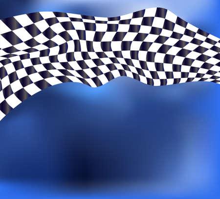 bandera carreras: bandera a cuadros fondo raza vector Vectores