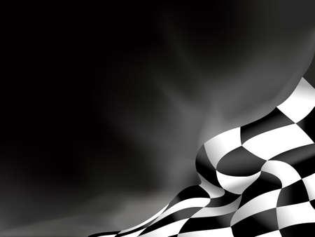 bandera carreras: bandera de la raza de fondo ilustración vectorial Vectores