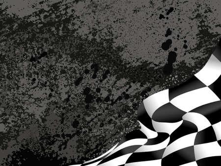 race flag  background vector illustration grunge