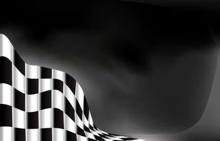 checker: race flag  background vector illustration Illustration
