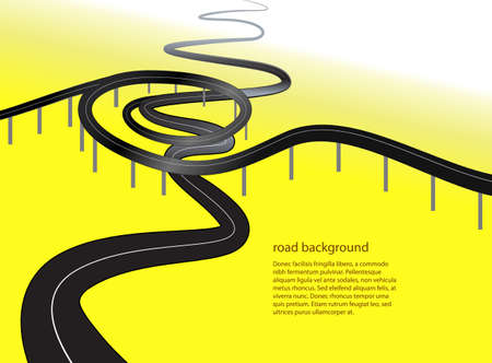 bitumen: road or highway conceptual  background vector illustration