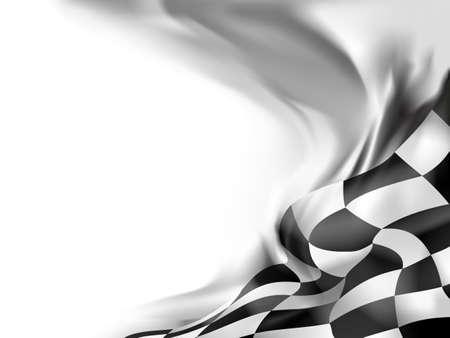 cuadros blanco y negro: bandera de la raza de fondo ilustración vectorial Vectores