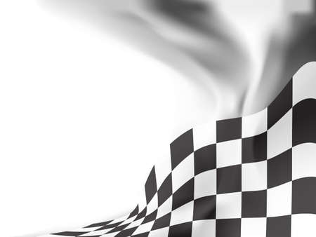 race flag  background vector illustration Ilustração