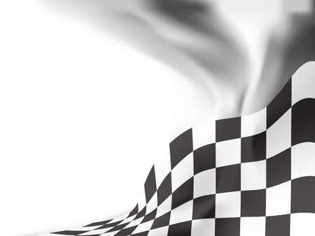 race flag  background vector illustration Illustration