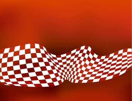 racing background checkered flag wawing Vector