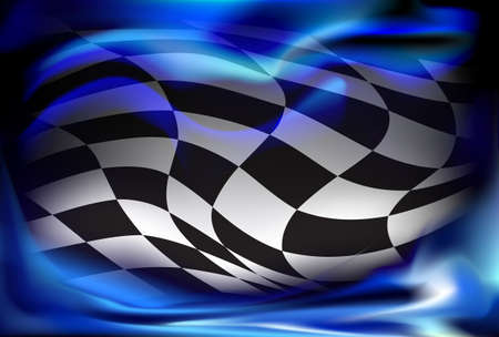 race, checkered flag background vector Reklamní fotografie - 40576297